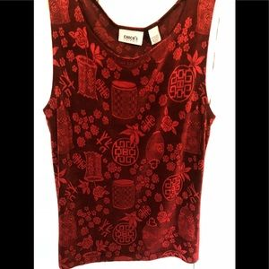Chico's Travels Red Tank